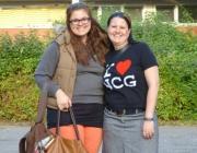 Ex-Schülersprecherin Clara Key mit Lehrerin Sandra Doth