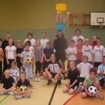 Korfballtraining mit den Nationalspielern