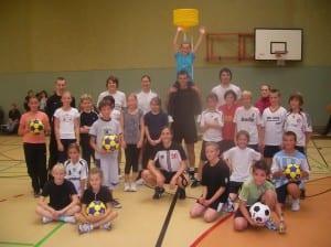 RTB U12 mit der Korfball-Nationalmannschft Okt. 2010