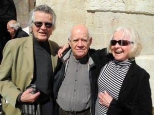 Künstler unter sich: Peter Busmann (Architekt der Kölner Philharmonie), Dani Karavan (weltbekannter israelischer Künstler) und Vreneli Busmann.