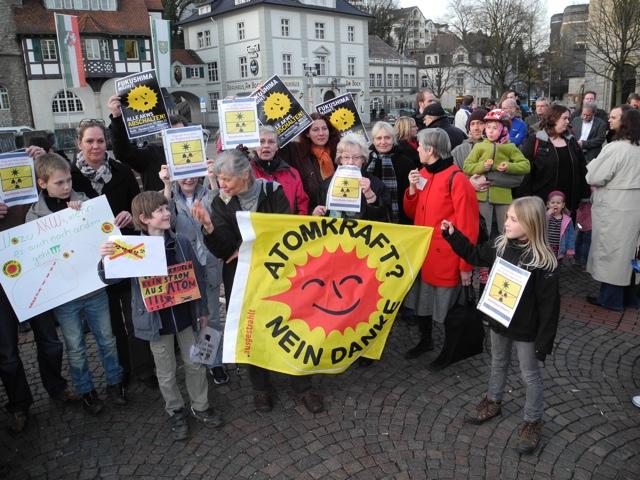 Mahnwache und Demo gegen Atomkraft