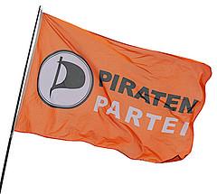 Wehende Flagge der Piratenpartei
