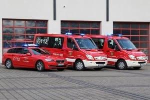 Neue Fahrzeuge der Feuerwehr in Dienst gestellt