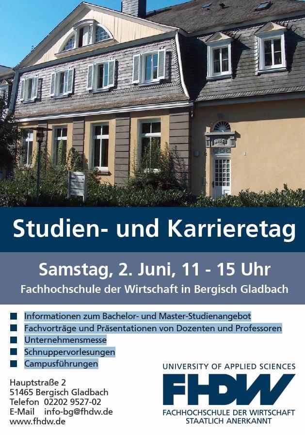 FHDW: Studien- und Karrieretag 2.Juni 2012