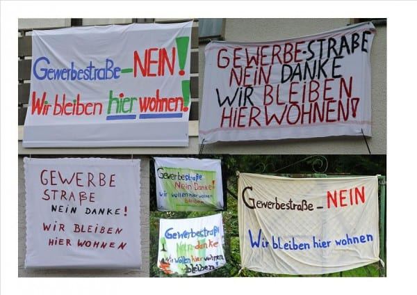 Anwohner demonstrierten gegen das geplante große Gewerbegebiet. Archivfoto
