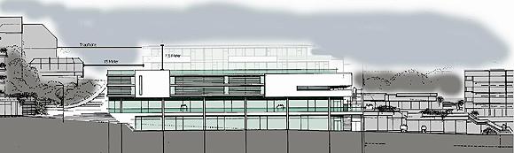 Der Entwurf für die Marktgalerie, Stand November 2012