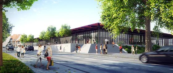 Die Pläne für eine Glashalle am Refrather Weg