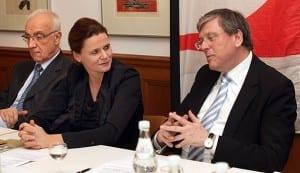 Birgit Bischoff und Klaus Kaiser im Gespräch