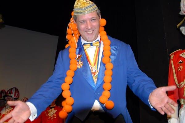 """Udo Güldenberg, Präsident der KG Narrenzunft, war begeistert von der Stimmung beim """" Närrischer Löwen""""."""