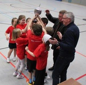 Korfball Kids Hebborn Siegerehrung