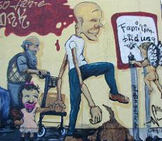 Graffiti zum Geburtstag: Rote Kreuz wird 150