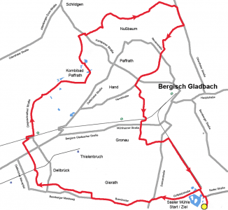 Streckenplan Familienradrallye