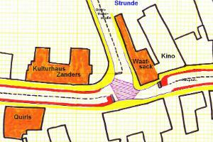 Skizze für eine alternative Lösung am Waatsack