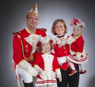 Präsident Alexander Pfister ist ein Familienmensch. Seine Familie teilt seine Begeisterung für den Karneval.