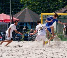 Fußball-Bundesliga im Sandkasten