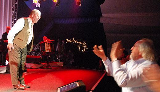 Hachenberg auf der Bühne