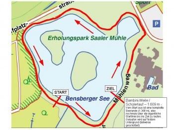 Die Route für den Bambini-Lauf (Klicken zur Großansicht)