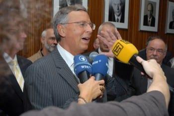 Wolfgang Bosbach am Wahlabend im Kreishaus