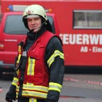 Feuerwehr-Großeinsatz in Flüchtlingsunterkunft