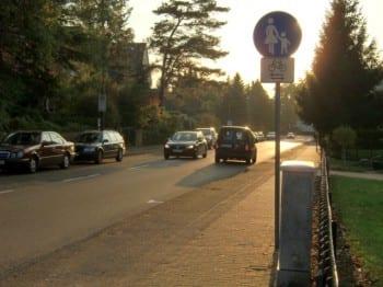 Fuß- statt Radweg an der Alten Wipperfürther Straße