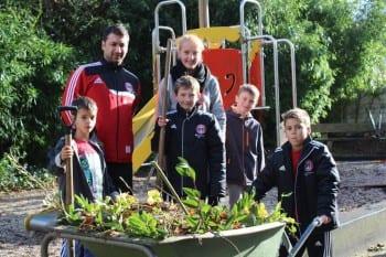 Jugendliche vom SV 09 in Aktion in Hebborn