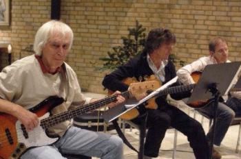 "Harmut Preis, ""Bömmel Lückerath (Bläck Fööss) und Klaus Lückerath (Paveier). Foto: B. Tomasetti"