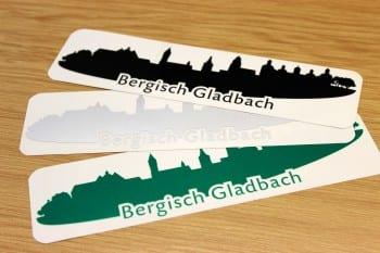 2014-01-07 Autoaufkleber Skyline Bergisch Gladbach