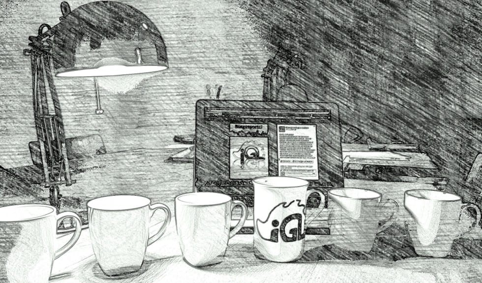 Büro Tassen Sketch