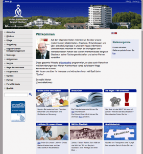 So sah die Website des MKH früher aus