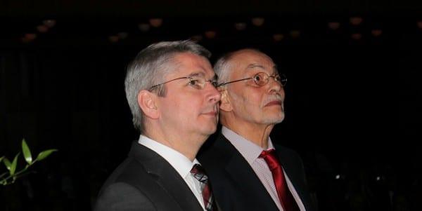 Lutz Urbach mit Herbert Stahl