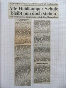 Artikel von 1981 - aus dem Schularchiv