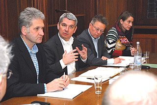 Georg Watzlawek, Lutz Urbach, Harald Schäfer, Marion Linnenbrink