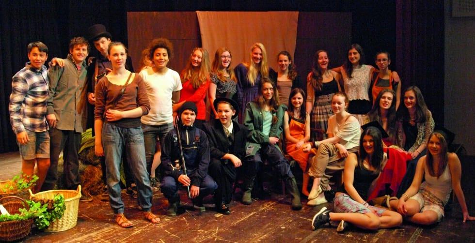 Die Klasse 8 der Waldorfschule