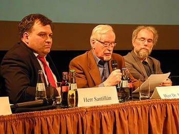 Tomas M. Santillan (Linke), Reimer Fischer (FDP) und Peter Baeumle-Courth (Grüne)