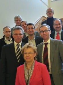 Protagonisten der ILA. In der ersten Reihe: Fabian Rensch, Annegret Fleck, Oliver Schillings