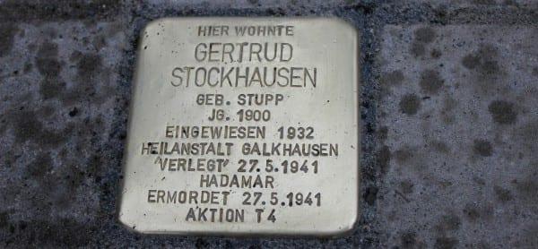 Stolperstein Stockhausen quer