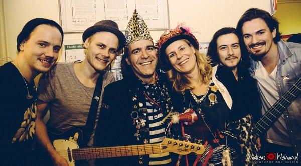 Charlie und Tina Röttgen mit der Band Cat Ballou
