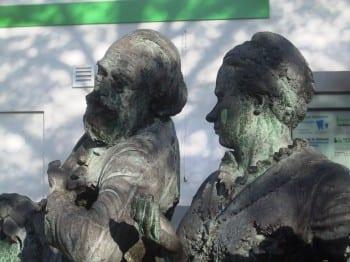 Maria Zanders und Max Bruch am Trotzenburgplatz