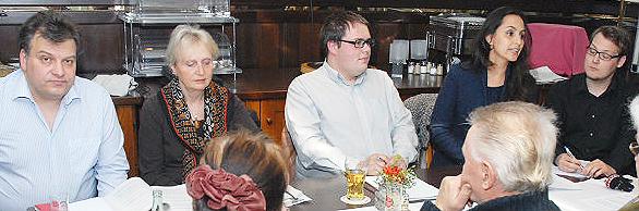 Die Initiatoren: Tomas M. Santillan, Renate Beisenherz-Galas, Patrick Graf, Catherine Henkel, Sascha Lenze