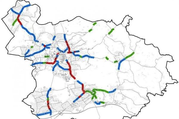 Karte: Lärm Belastungsachsen
