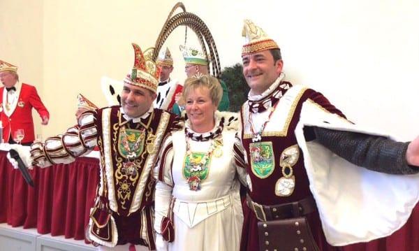 Großer Dank an das Dreigestirn 2014: Prinz Frank, Jungfrau Angelika, Bauer Rainer
