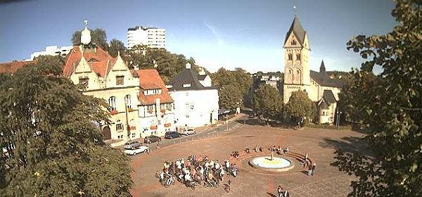 Radfahrer auf dem Konrad-Adenauer-Platz