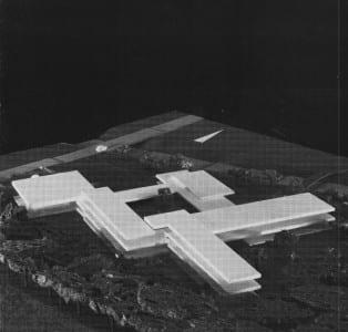 So hatte Franz Weissenberger die Schule am Rübezahlwald geplant. Vorne links: die Turnhalle