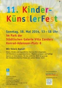 Flyer und Plakat 11. Kinder Künstler Fest