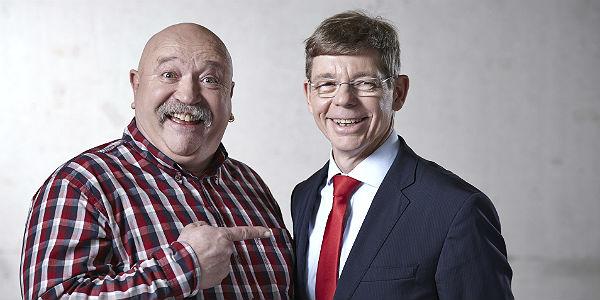 Michael Schubek (r.) mit dem SPD-Kandidaten in Sand, Jürgen Haase