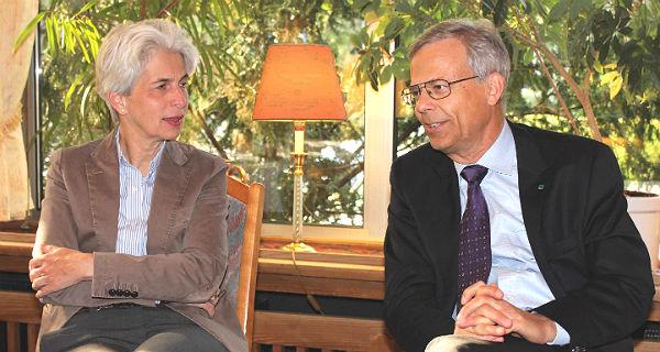 Marie-Agnes Strack-Zimmermann und Jörg Krell