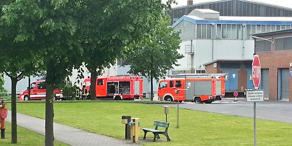 Feuerwehreinsatz auf dem Gelände von Isover G+H