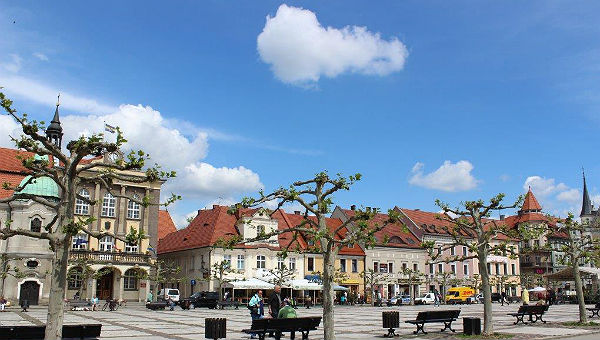 Der Marktplatz von Pszczyna