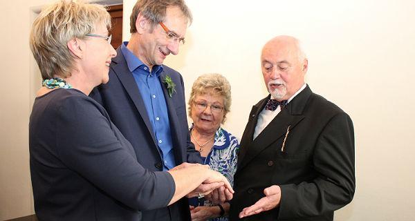 Lothar Speers letzte Amtshandlung: Die Trauung eines guten Freundes