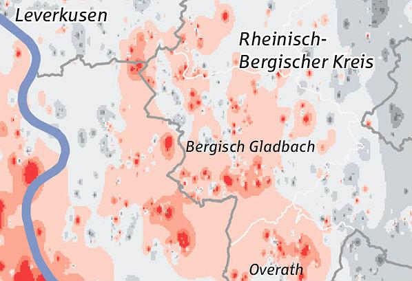 Immobilien-Wetterkarte der KSK: Preis-Hotspots von Bestandseigenheimen